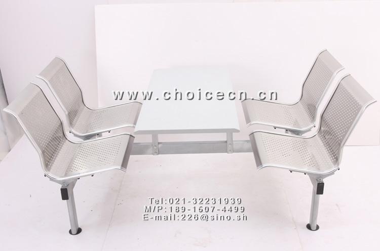 高品质不锈钢快餐桌椅
