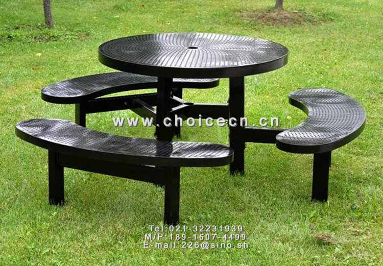 金属户外休闲组合桌凳-信卓·中国公共座椅第一品牌