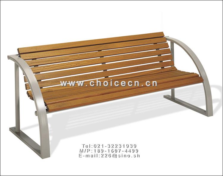 产品名称: 致高悠然钢木景观长椅,钢结构椅腿
