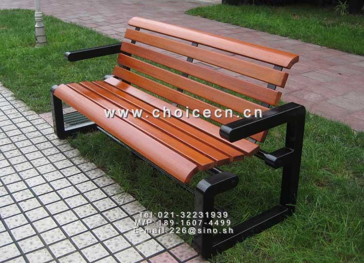 2028c 雅馨悠然钢木户外休闲椅,钢结构椅腿